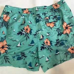 Merona Swim - Men's Merona Swimwear Trunks Plus Size 2X Teal